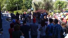 Rueda de prensa de Distrito 14 tras las 11 detenciones. (Foto: OKDIARIO)