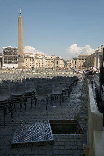 Una vista poco común de la Basílica de San Pedro en El Vaticano. (Foto: O. Curtis)