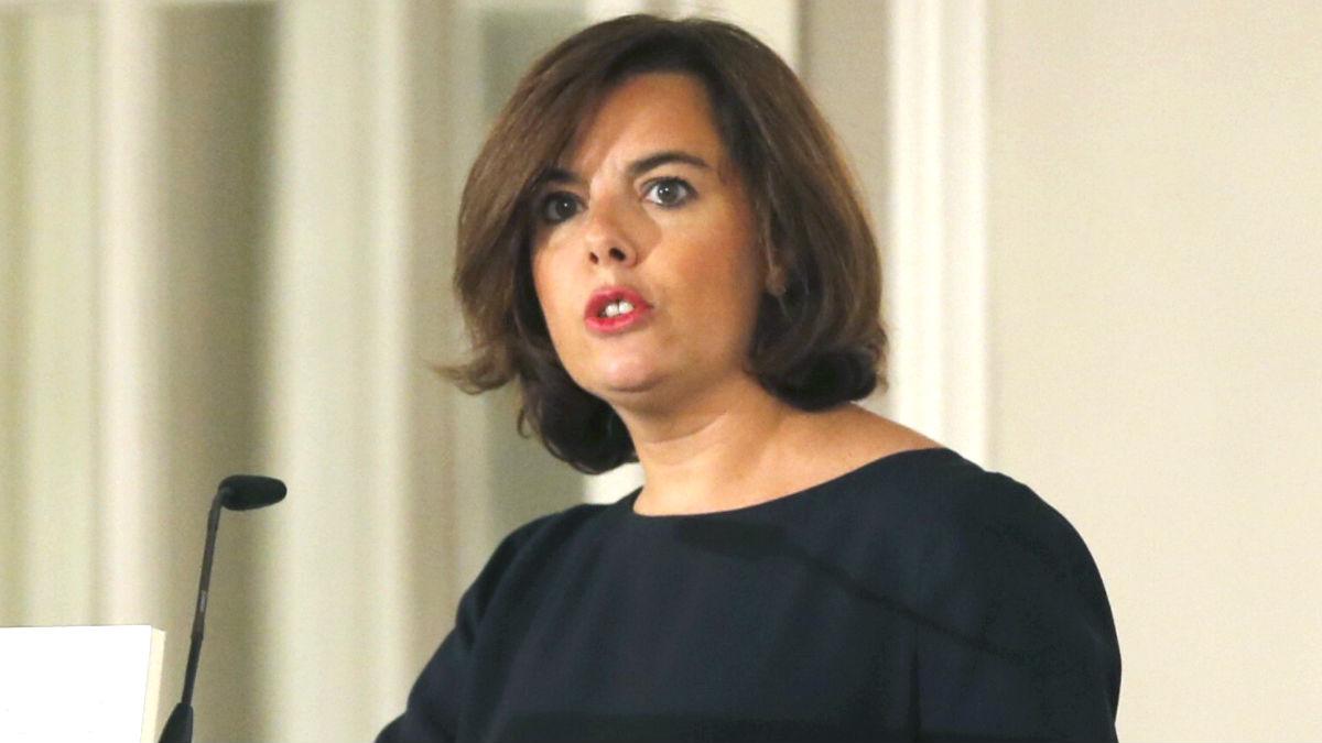 La vicepresidenta del Gobierno Soraya Sáenz de Santamaría (Foto: Efe)