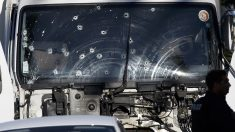 Camión usado como arma para el atentado de Niza. (Foto: AFP)