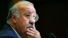 Del Bosque, en una rueda de prensa. (Reuters)
