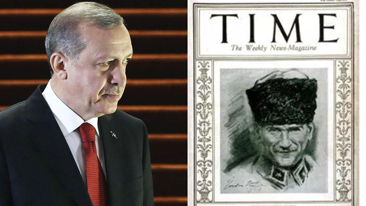 Recep Tayyip Erdogan y Mustafa Kemal Ataturk.
