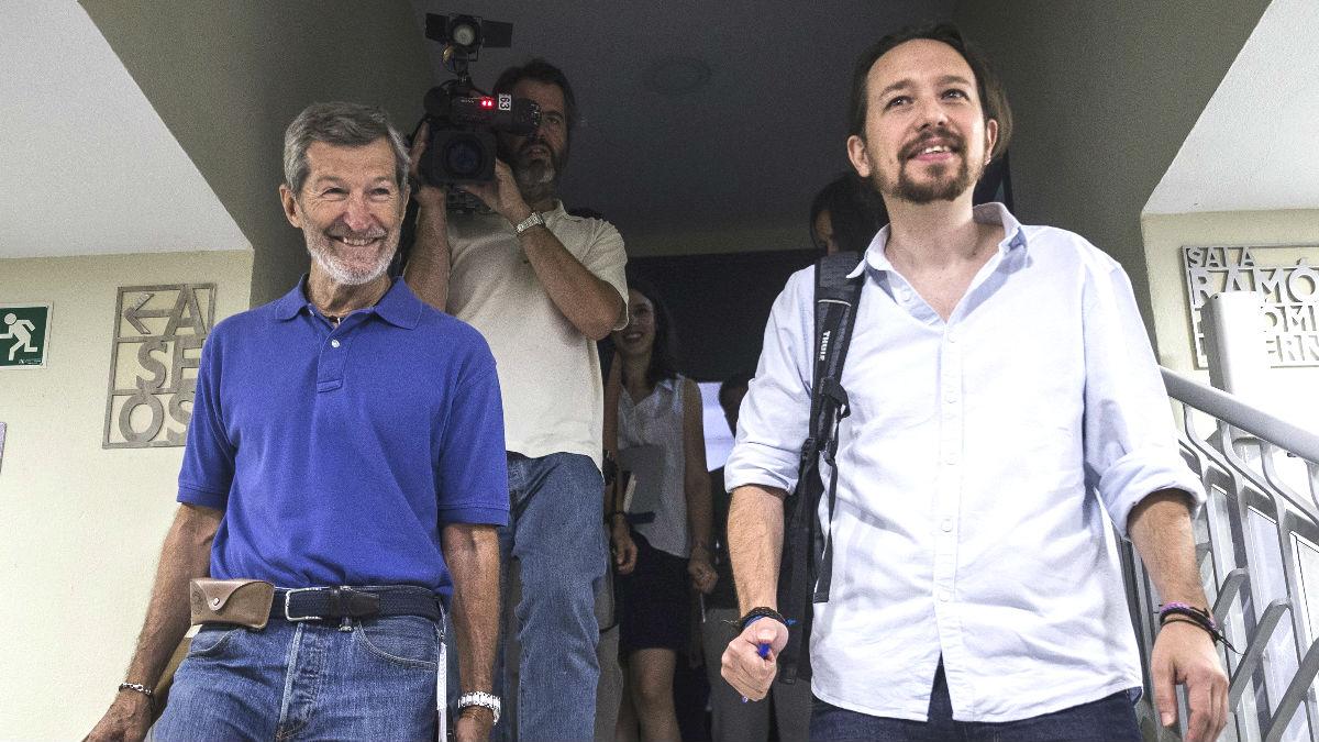 Julio Rodríguez, con Pablo Iglesias.