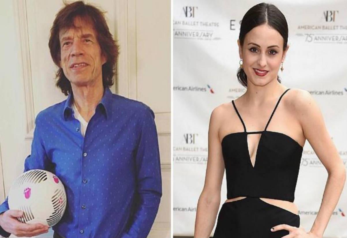 Mick Jagger y Melanie Hamrick (Instagram)