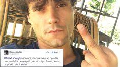 La peineta de Miguel Abellán a Aleix Espargaró. (Foto: Twitter)
