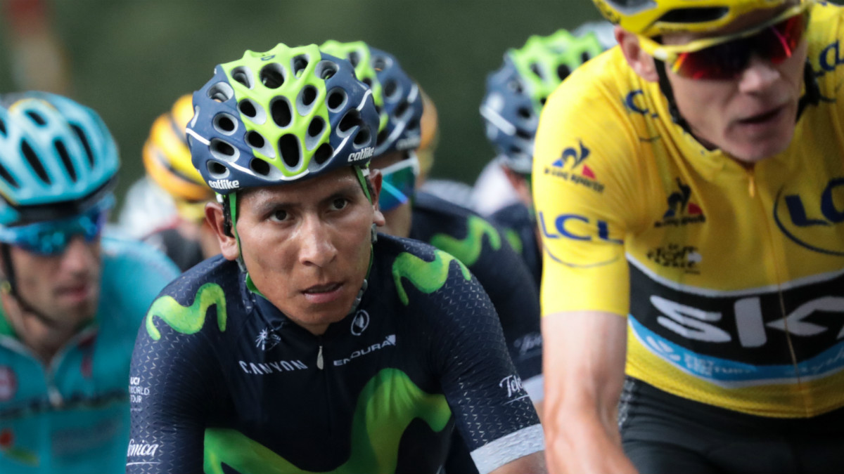Nairo Quintana junto a Chris Froome durante una etapa del Tour. (AFP)
