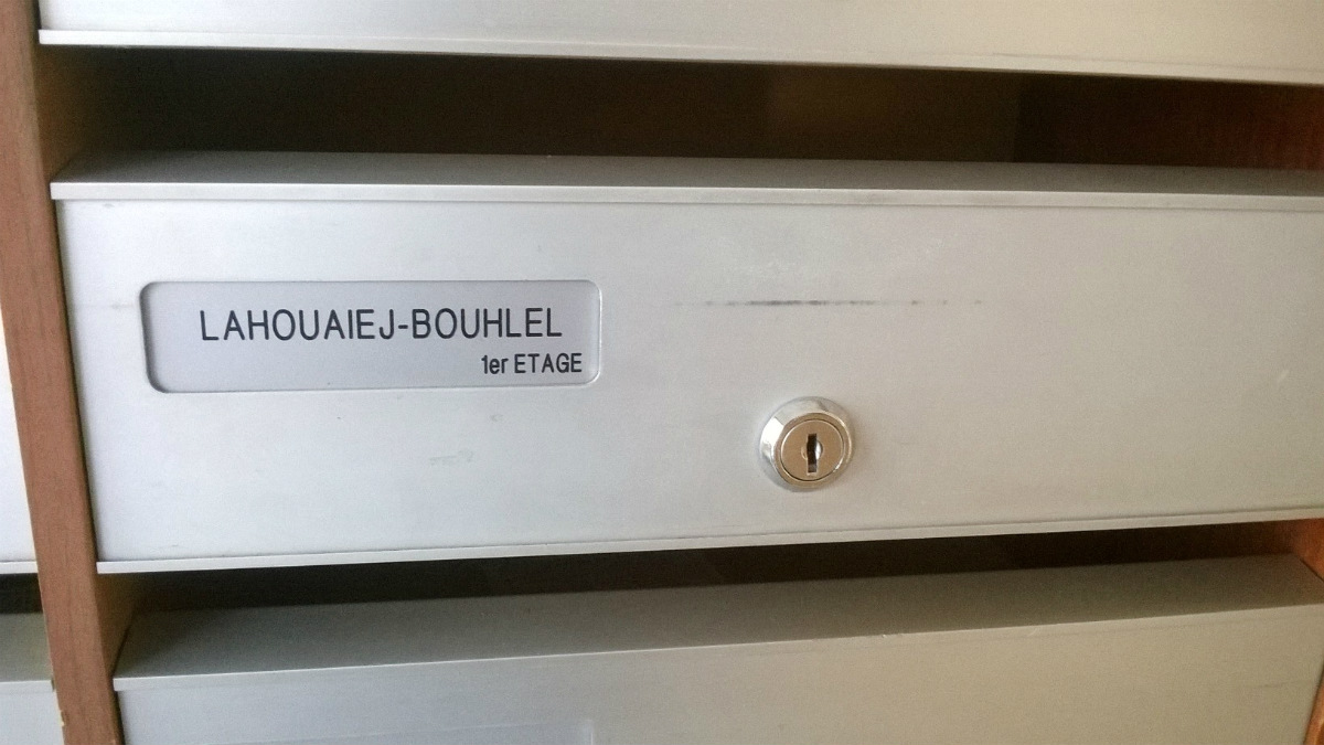 Buzón del piso del autor del atentado, Lahouaiej Bouhlel, en su casa de Niza. (AFP)