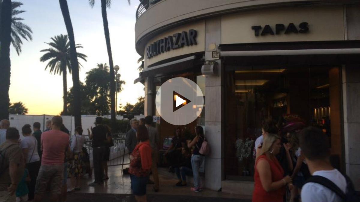 El bar Balthazar, en el paseo de los Ingleses de Niza. (Foto: I. Artola)