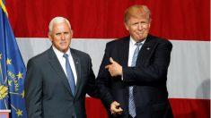 Michael Pence y Donald Trump, 'ticket' republicano para la Casa Blanca. (Reuters)
