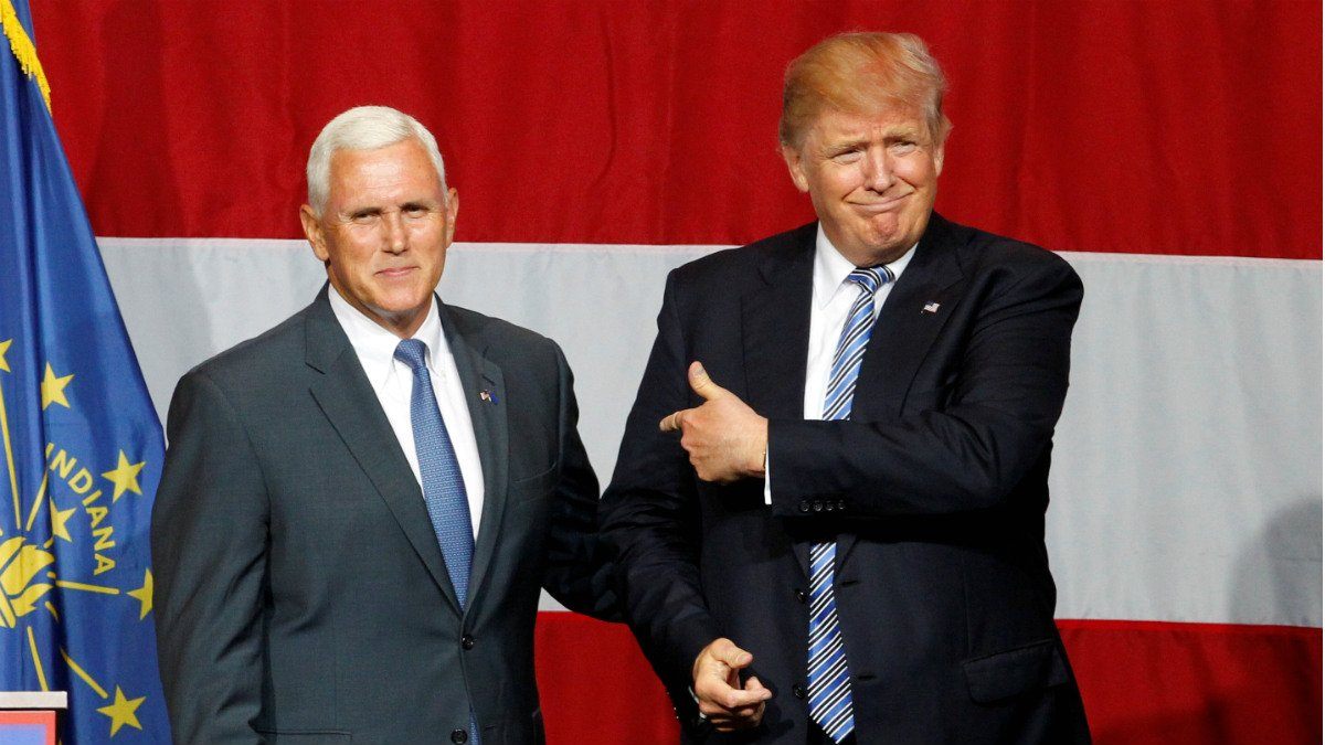 Michael Pence y Donald Trump, 'ticket' republicano para la Casa Blanca. (Reuters)