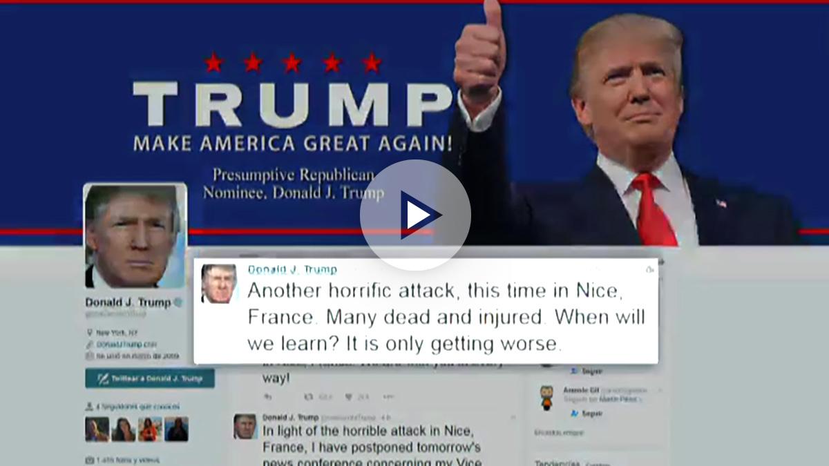 Donald Trump, candidato republicano a la Presidencia de EEU.