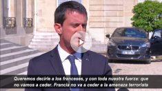 El primer ministro francés, Manuel Valls, a la salida de la reunión con el presidente.