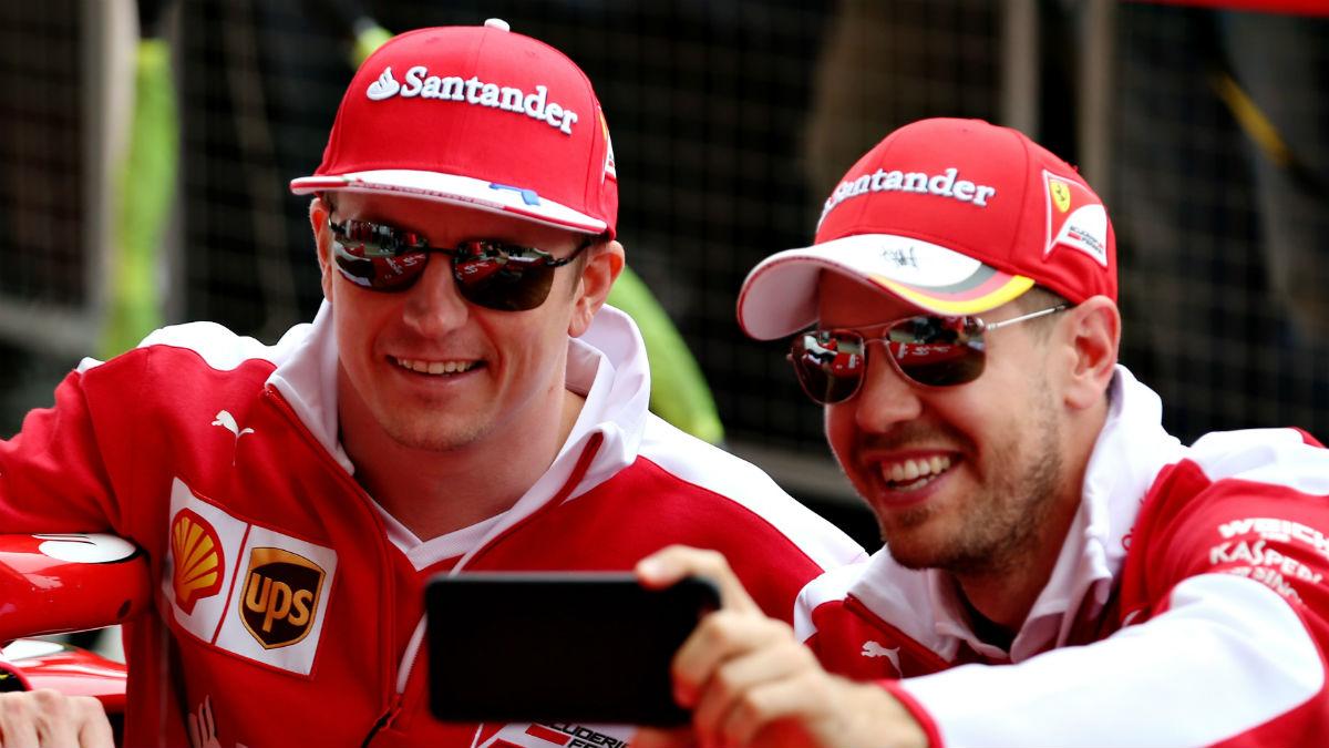 Vettel quería a toda costa seguir compartiendo equipo con Raikkonen, y Ferrari ha aceptado. (Getty)