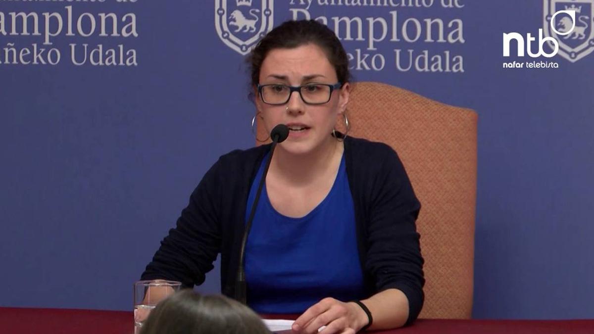 La concejal de Podemos en el Ayuntamiento de Pamplona, Laura Berro.