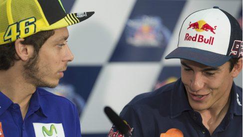 ¿Nuevo enganchón entre Rossi y Márquez? (Getty)
