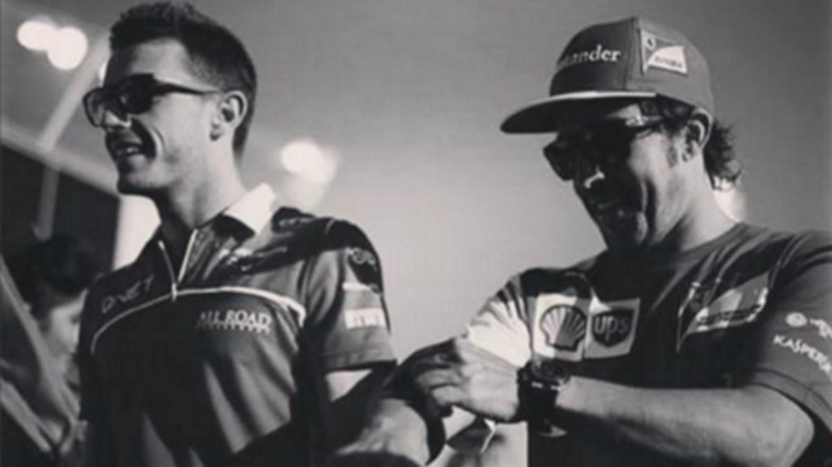 Alonso junto a Bianchi durante su etapa en Ferrari. (Instagram)