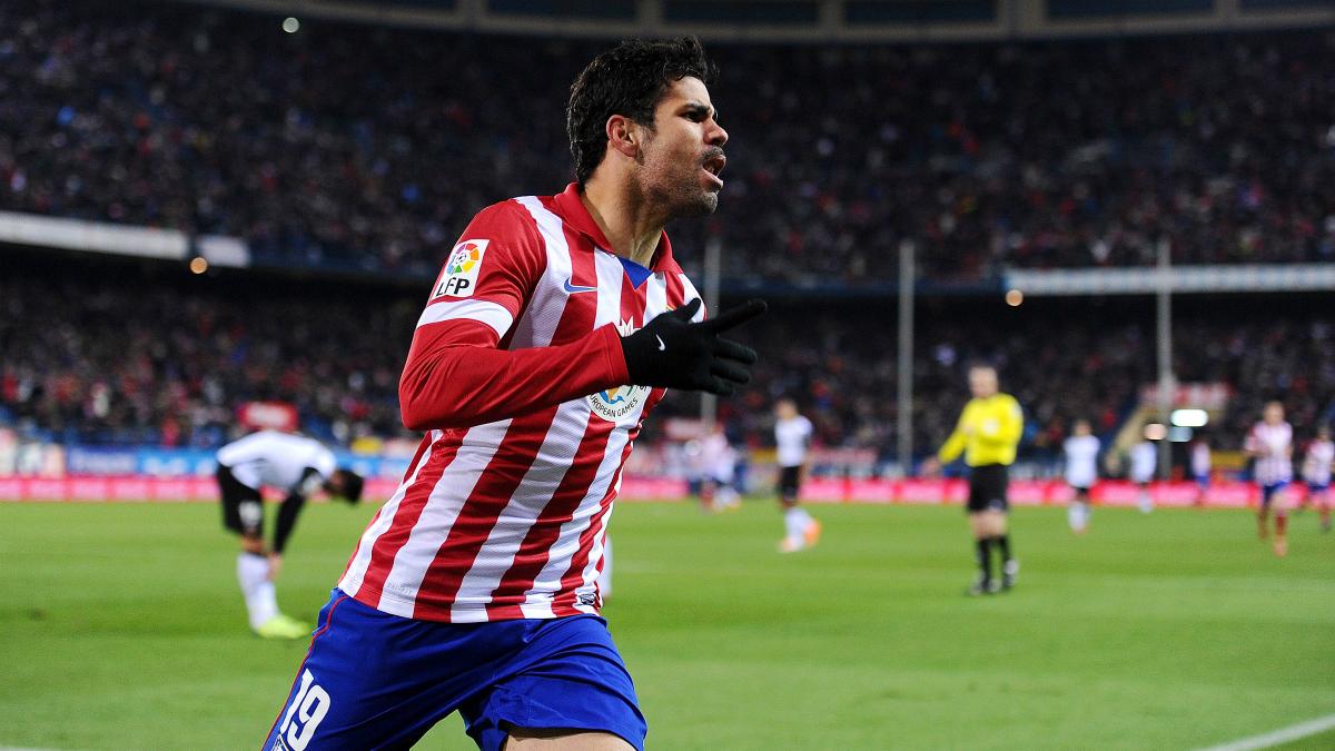 Diego Costa celebra un gol con el Atlético de Madrid. (Getty)