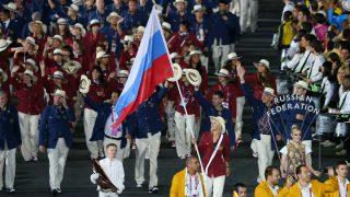 La expedición de Rusia desfila en los Juegos Olímpicos de Londres 2012. (Getty)