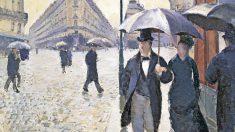 'Calle de París, tiempo lluvioso, boceto', de Gustave Caillebotte, 1877.