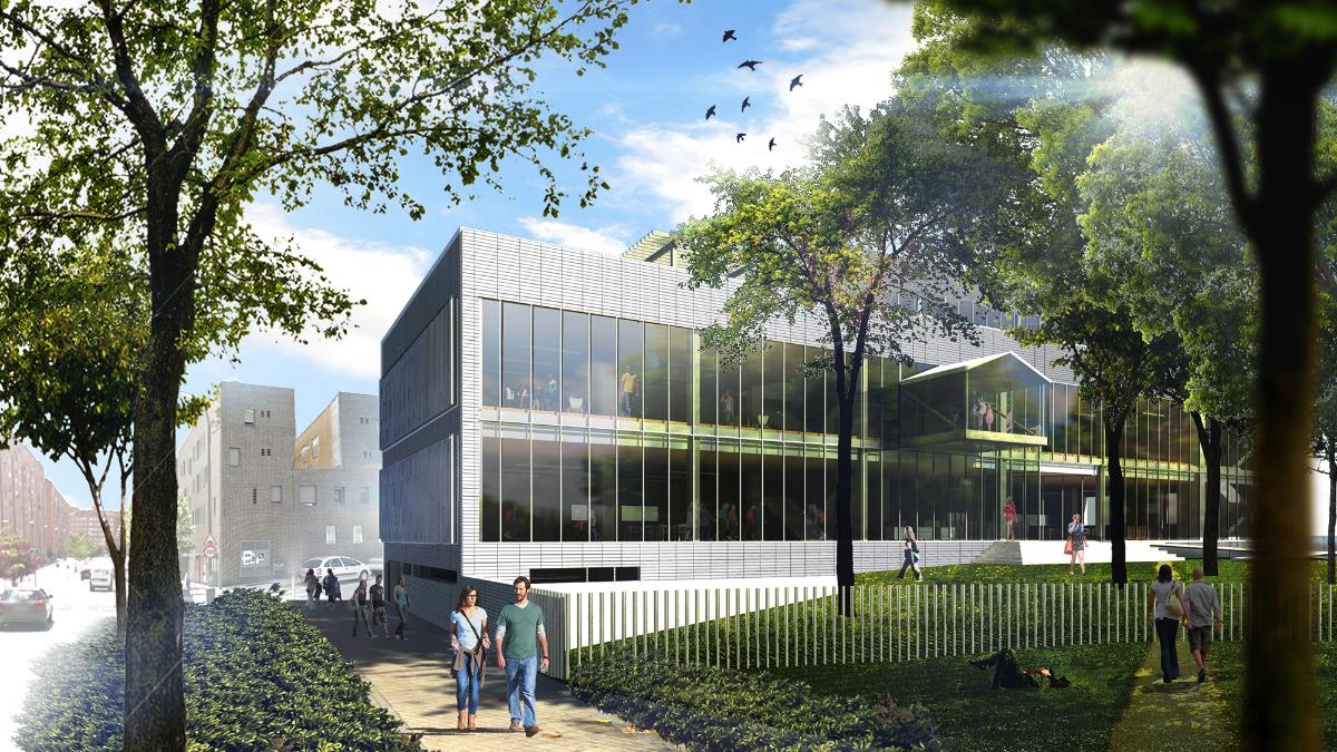 Proyecto de la biblioteca municipal de San Fermín elaborado por la SL de una asesora de la presidencia del Pleno de Madrid. (Foto: Madrid)