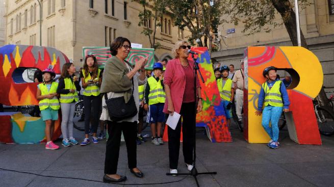 Aguirre arranca a Sabanés la promesa de replantar los árboles talados en Madrid