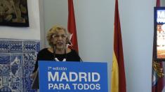 La alcaldesa Carmena en una presentación esta semana. (Foto: EFE)