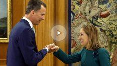 El rey Felipe VI recibe a Ana Pastor en La Zarzuela. (Foto: EFE)