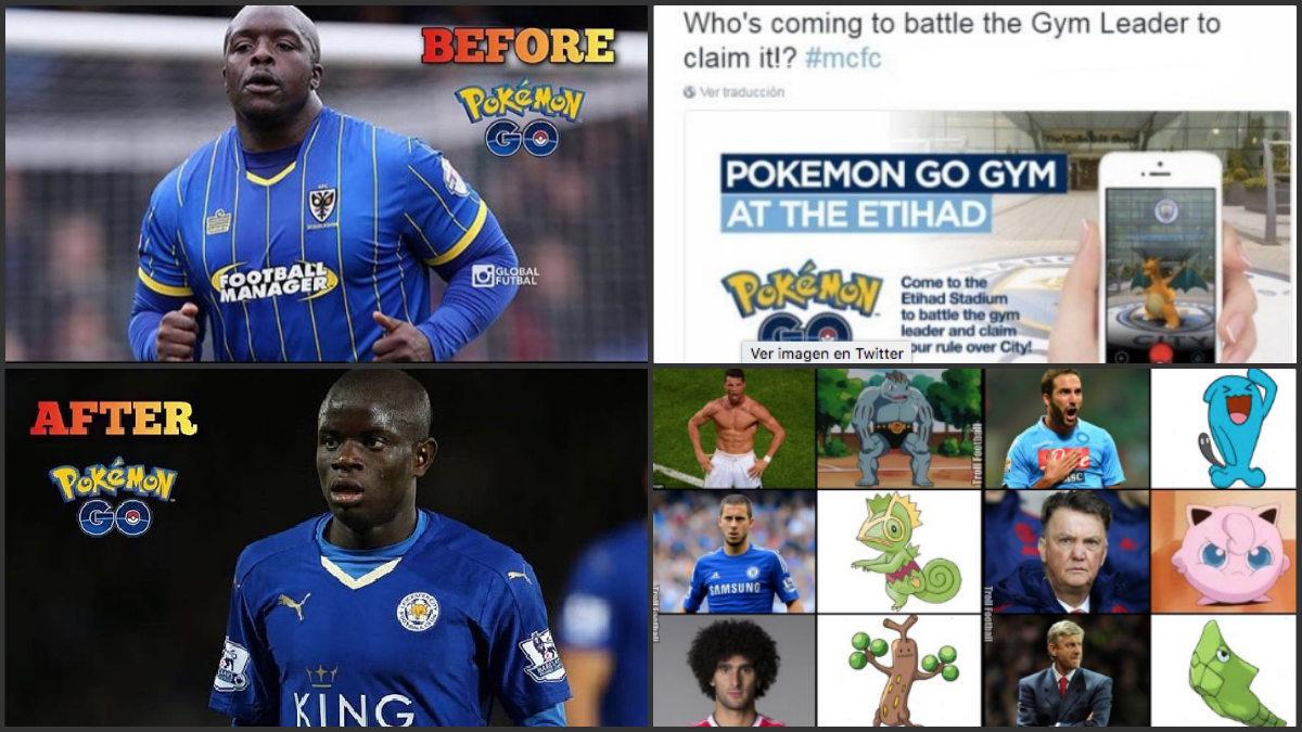 Los mejores memes de Pokémon Go relacionados con el fútbol.