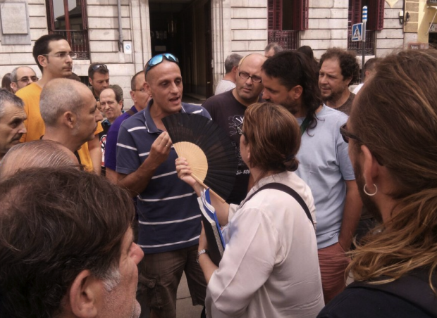 Encontronazo de Inés Sabanés de Equo con los sindicatos. (Foto: TW)