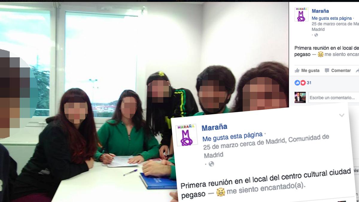 Imagen de la asociación Maraña luciendo su nuevo local. (Foto: FB)
