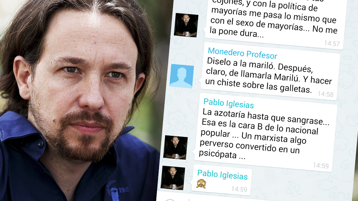 La conversación que Pablo Iglesias y Monedero mantuvieron en la red Telegram en agosto de 2014