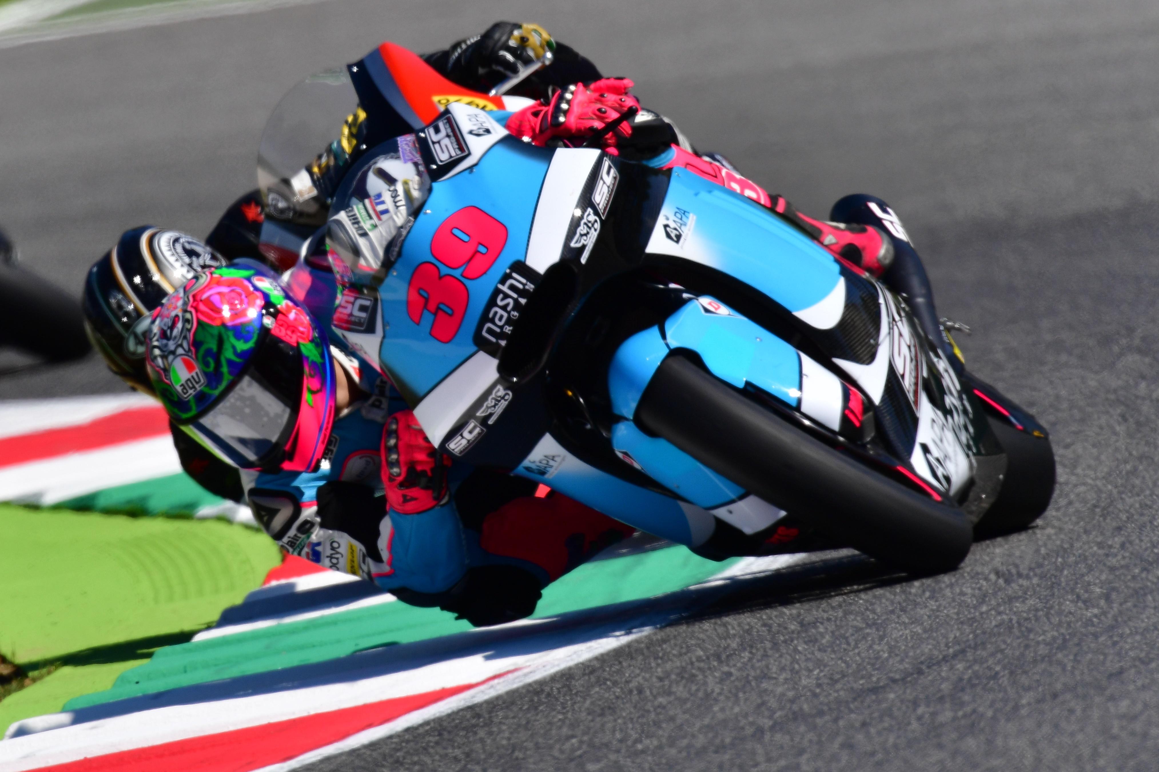 Luis Salom, en una carrera de Moto2