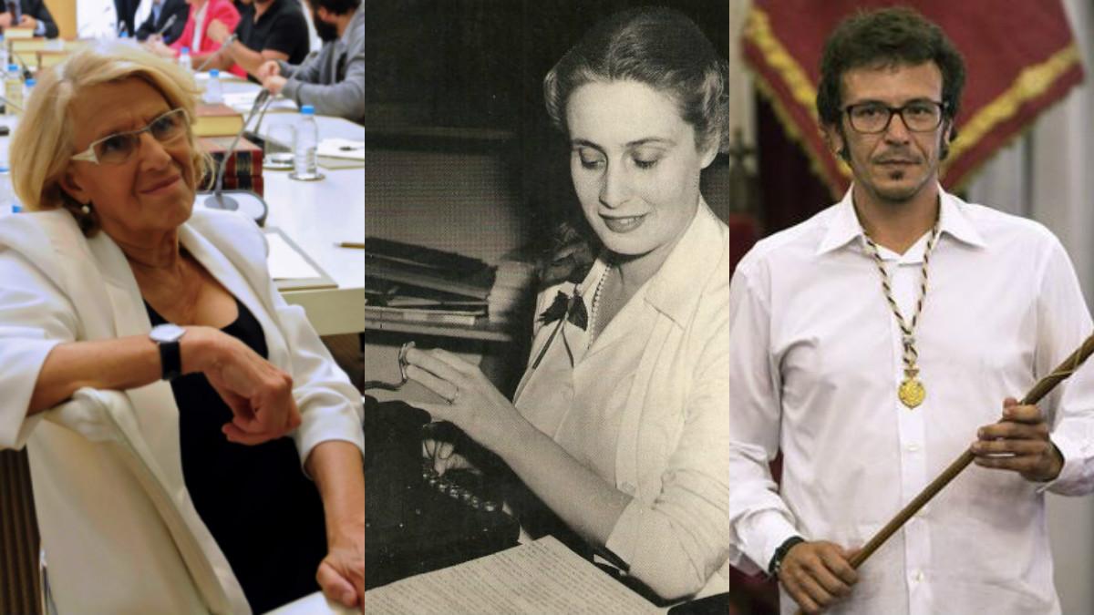 Los alcaldes de Madrid y Cádiz con Mercedes Formica. (Fotos: WM)