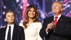 Barron, Melania y Donald Trump. (Foto: AFP)