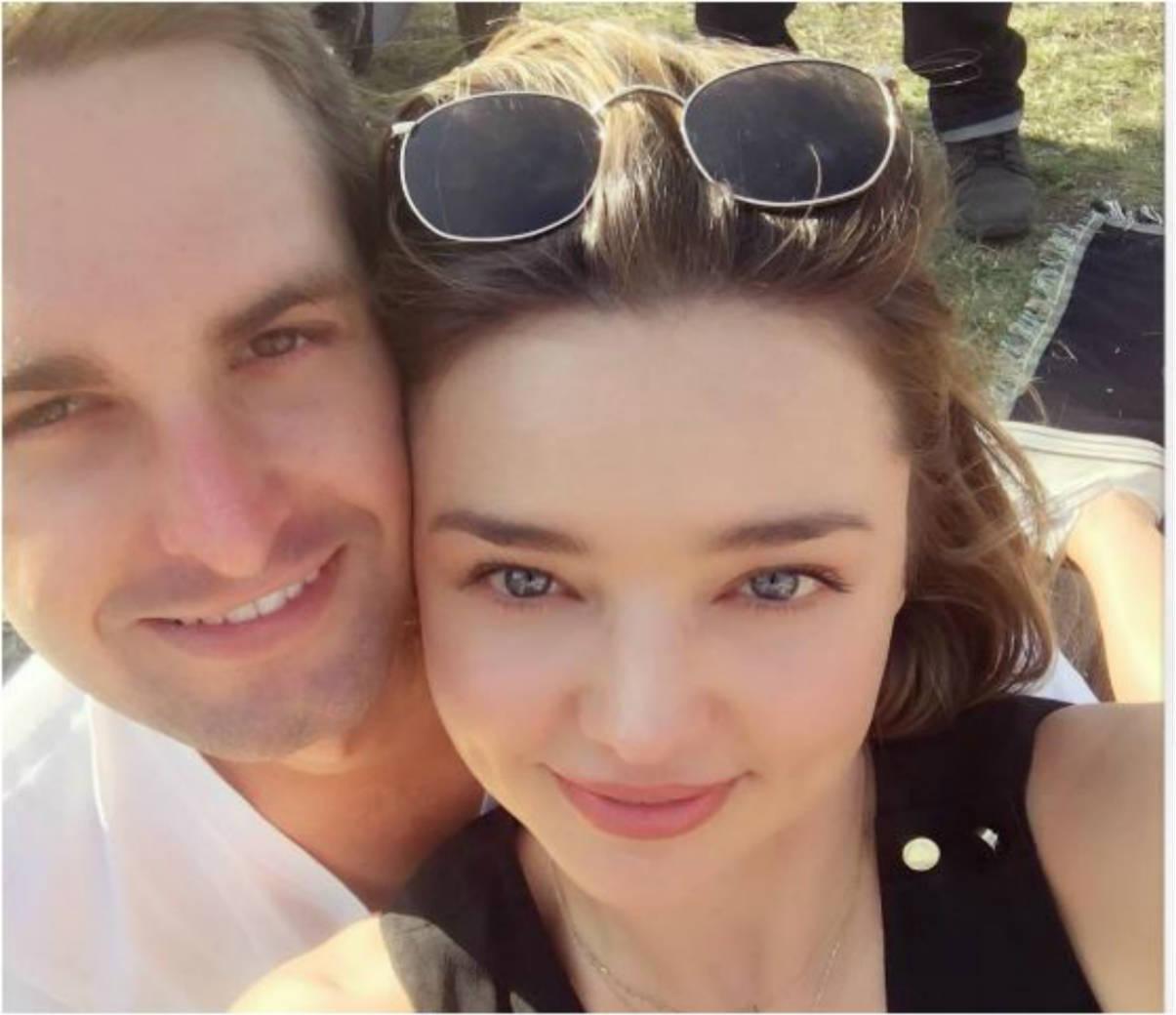 Miranda Kerr y Evan Spiegel (Instagram)