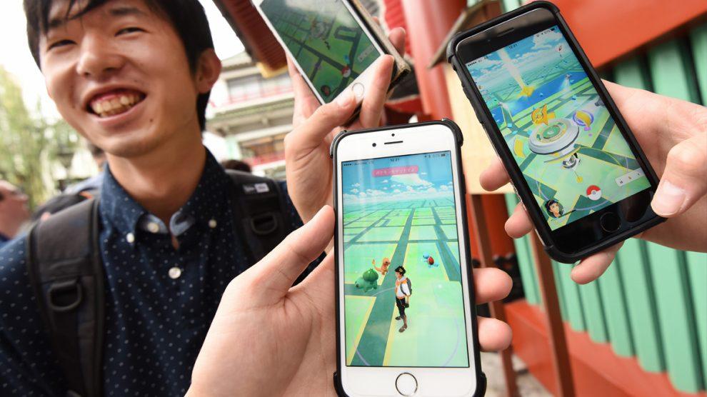 Primeros usuarios de Pokémon Go en Japón. (Foto: AFP)