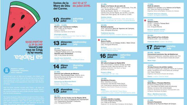 El nº 2 del PP balear y alcalde de Campos quita el español de los folletos de las fiestas del pueblo