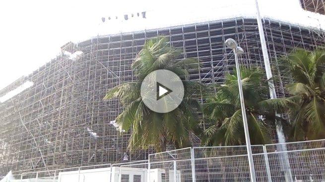 Las instalaciones de los Juegos Olímpicos están sin terminar a dos semanas del inicio