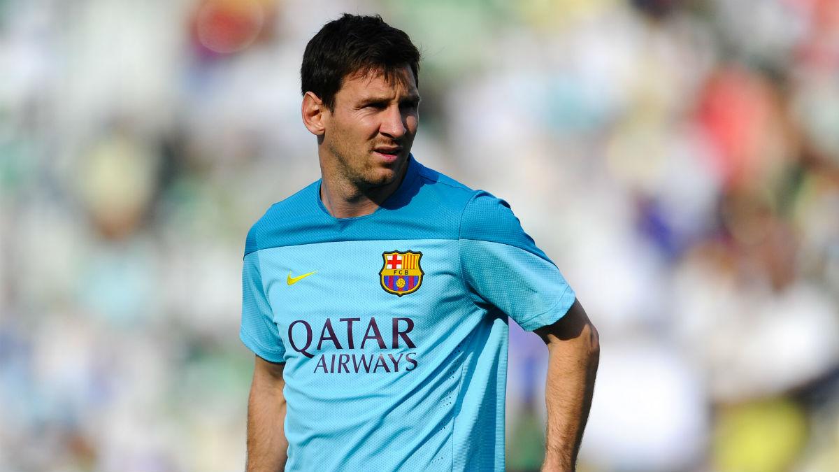Leo Messi, en un entrenamiento. (Getty)