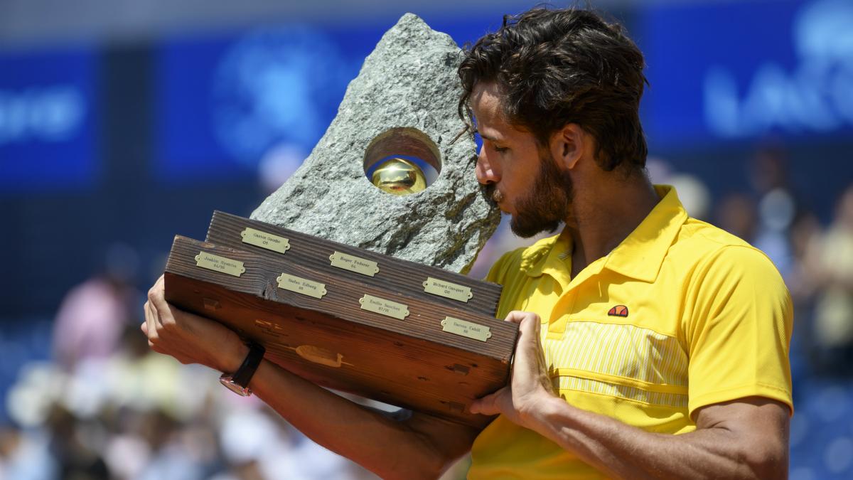 Feliciano López, campeón en Gstaad. (AFP)