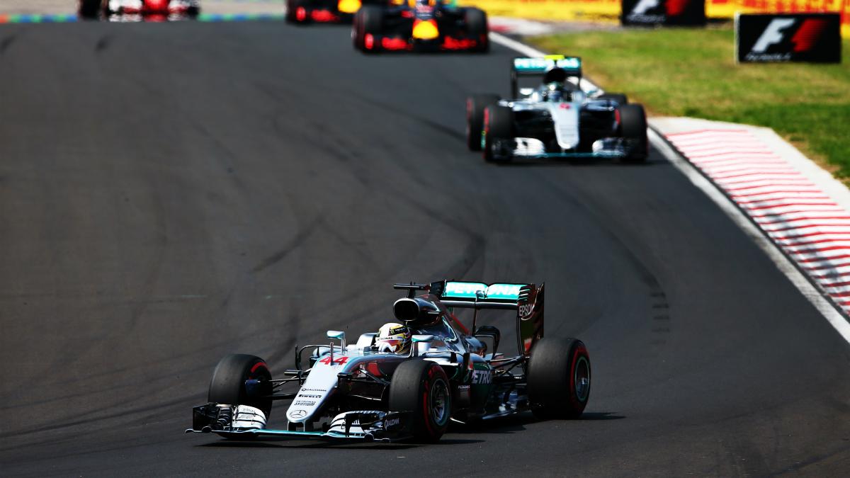 Lewis Hamilton se impuso en el GP de Hungría. (Getty)