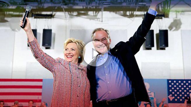 Hillary Clinton escoge a Tim Kaine como vicepresidente para su carrera a la Casa Blanca