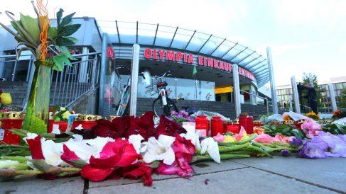 Flores en recuerdo de las víctimas de Múnich (Foto: AFP).