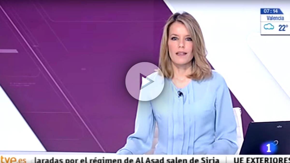 La presentadora del informativo matinal de TVE