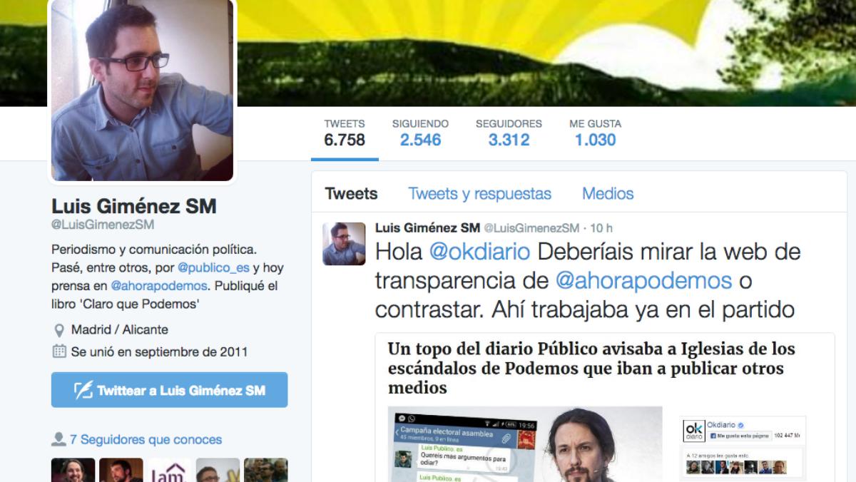 El jefe de prensa de Errejón ratifica que los mensajes publicados por OKDIARIO son auténticos.