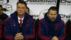 Ryan Giggs junto a Van Gaal. (Getty)