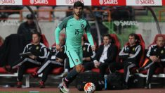 André Gomes, durante un amistoso con Portugal. (Getty)