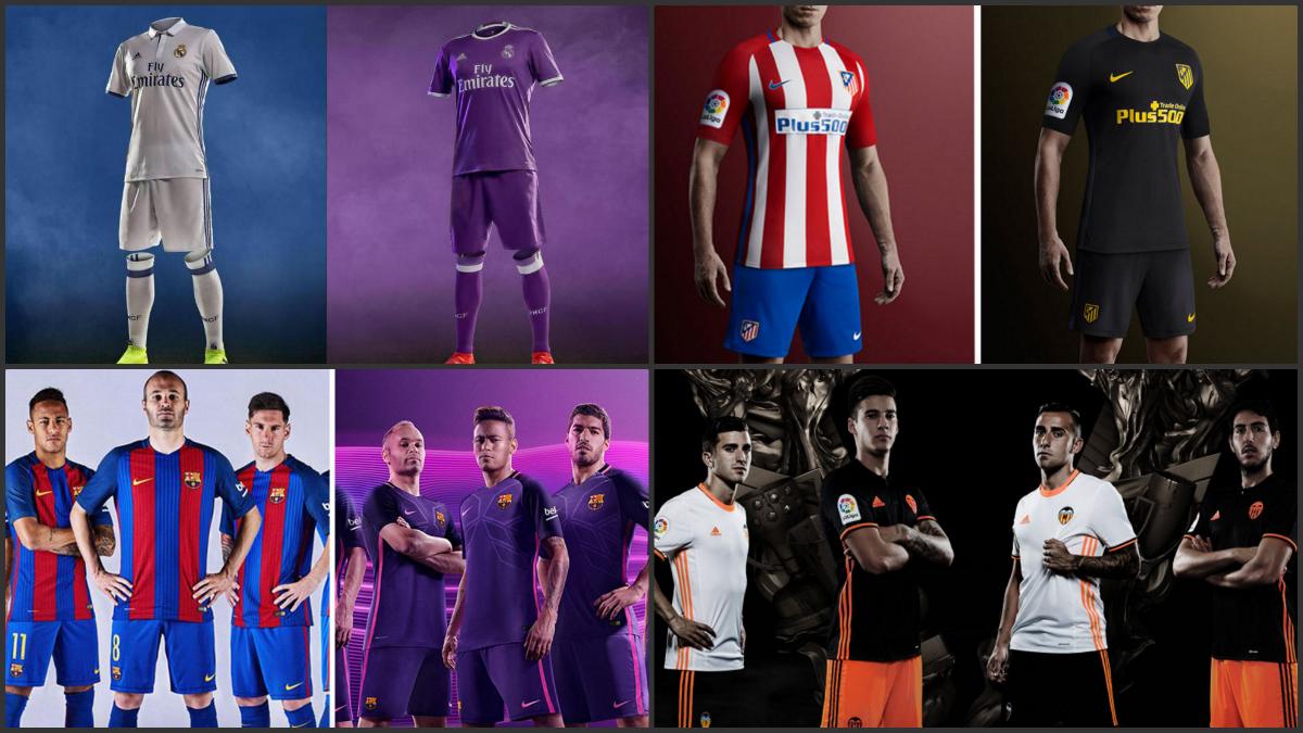 Así vestirán los 20 equipos de Primera División.