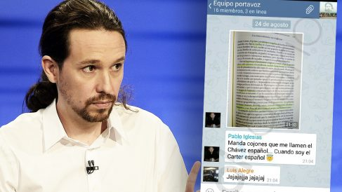 Los mensajes escritos por Pablo Iglesias en un grupo de Telegram.