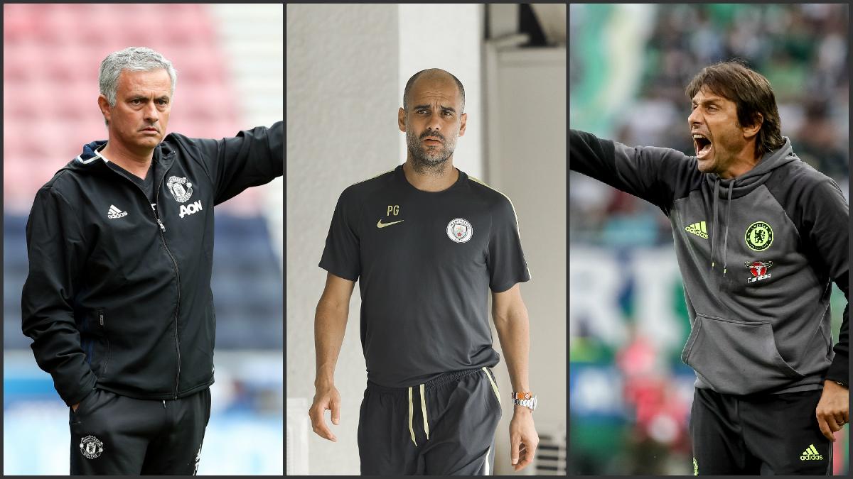 Mourinho, Guardiola y Conte, caras nuevas de la Premier. (Getty Images)